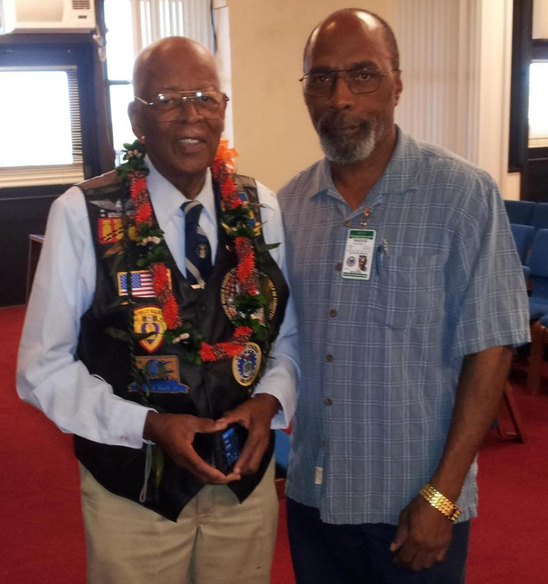 Lt. Col. Alexander Jefferson and Michael Peacock