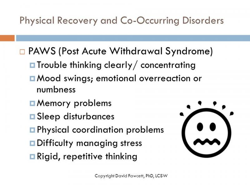 Post Acute Withdrawal Co Occurring