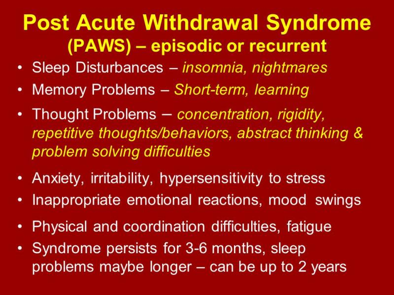 Post Acute Withdrawal red background