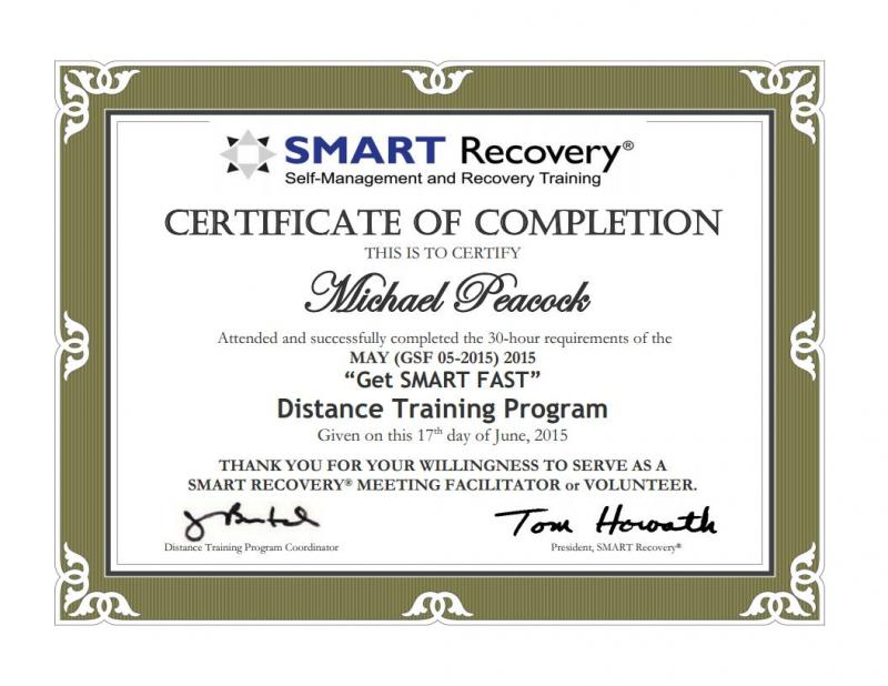 SMART Recovery Certification